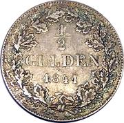 ½ Gulden – reverse