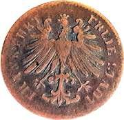 1 Heller (Copper pattern strike) – obverse