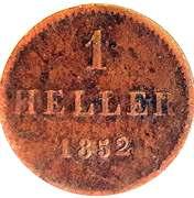 1 Heller (Copper pattern strike) – reverse