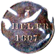 1 Theler (Judenpfennig) -  reverse