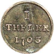 1 Theler (Judenpfennig) – reverse