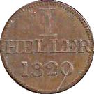 1 Heller (Judenpfennig) – reverse
