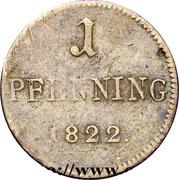 1 Pfenning (Judenpfennig) – reverse