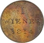 1 Wiener (Judenpfennig) – reverse