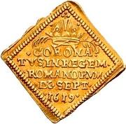 ½ Ducat (Coronation; Klippe) – reverse