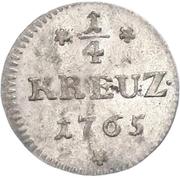 ¼ Kreuzer – reverse