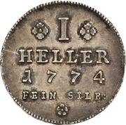 1 Heller (Silver pattern strike) – reverse