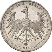 2 Gulden (Constitutional Convention; Zwittertaler) – obverse