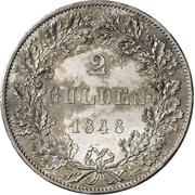 2 Gulden (Constitutional Convention; Zwittertaler) – reverse
