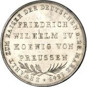2 Gulden (Imperial election of Friedrich Wilhelm IV.) – reverse
