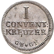 1 Kreuzer (Konventionskreuzer) – reverse