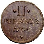 2 Pfennig – reverse