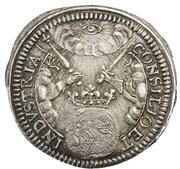 ½ Ducat (Silver pattern strike; Coronation) – reverse