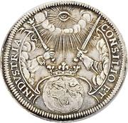 2 Ducat (Silver pattern strike; Coronation) – reverse