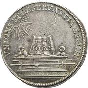1 Ducat - Karl VII. (Silver pattern strike; Coronation) – reverse