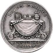 1 Ducat (Silver pattern strike; Coronation) – reverse