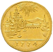 1 Kreuzer (Gold pattern strike) – reverse