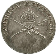 ¾ Ducat (Silver pattern strike; Coronation) – reverse