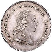 1 Ducat (Silver pattern strike; Coronation) – obverse