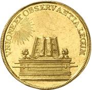 2 Ducat (Coronation) – reverse