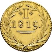 1 Pfennig (Gold pattern strike; Judenpfennig) – reverse