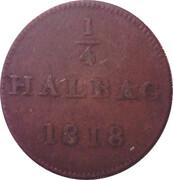 ¼ Halbag (Judenpfennig) – reverse