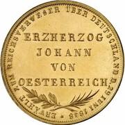 2 Gulden (Archduke Johann; Gold Pattern) – reverse