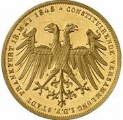 2 Gulden (Imperial election of Friedrich Wilhelm IV.; Gold Pattern) – obverse