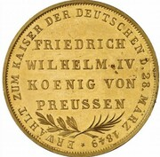 2 Gulden (Imperial election of Friedrich Wilhelm IV.; Gold Pattern) – reverse