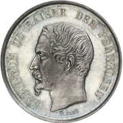 Medal - Hommage by the city of Frankfurt am Main to Napoleon III – obverse