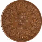 Medal - Hommage by the city of Frankfurt am Main to Napoleon III – reverse