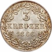 3 Kreuzer – reverse