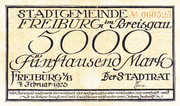 5,000 Mark – obverse