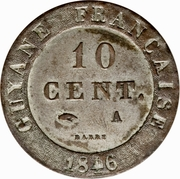 10 Centimes - Louis Philippe I – reverse