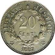 20 Centimes (Essai) – reverse