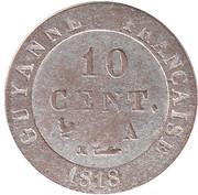 10 Centimes - Louis XVIII – reverse