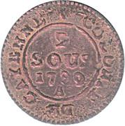 2 Sous - Louis XVI – reverse