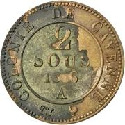 2 Sous - Louis XVIII – reverse