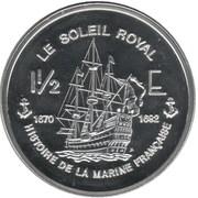 1½ Euro (Le Soleil Royal) – reverse