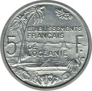 5 Francs (Piefort Essai) – reverse