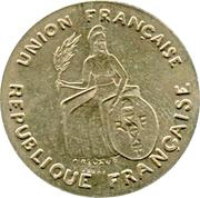 2 Francs (Essai, incuse design) – obverse
