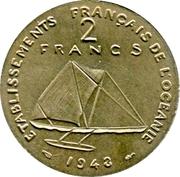 2 Francs (Essai, incuse design) – reverse