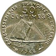 50 Centimes (Essai, incuse design) – reverse