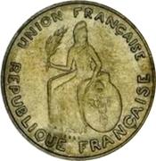 2 Francs (Essai, raised design) – obverse