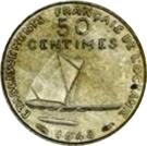 50 Centimes (Essai, raised design) – reverse