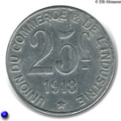 25 Centimes (Poissy) – reverse