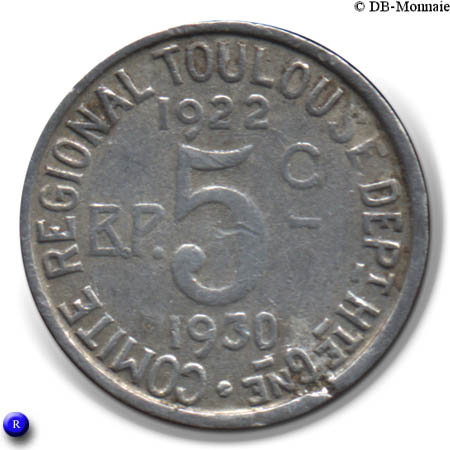 metal lettering 5 centimes toulouse cities numista 23623