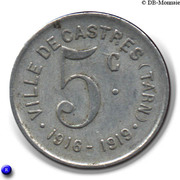 5 Centimes (Castres) -  reverse