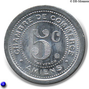 5 Centimes (Amiens) – reverse