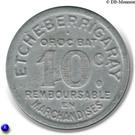 10 Centimes (Etcheberrigaray) – reverse